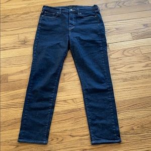 Uniqlo high rise stretch denim Cigarette jeans
